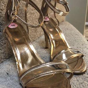 Rose Gold Stilettos-Size 10